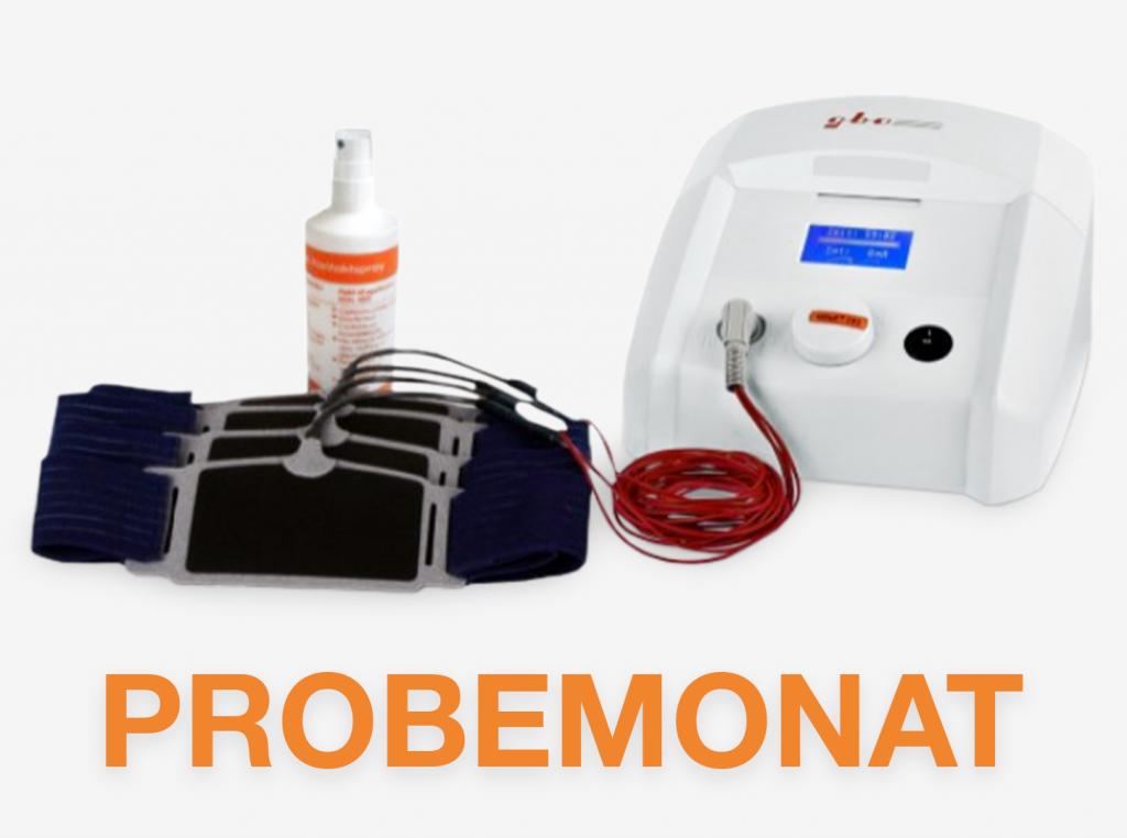 Probemonat HiTop 191 Gerät Fixierbandagen Kontaktspray gbo Medizintechnik
